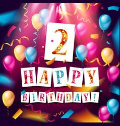 logo 2st anniversary celebration vector image