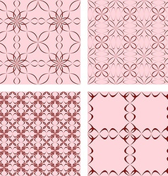 Maroon seamless abstract pattern background set vector