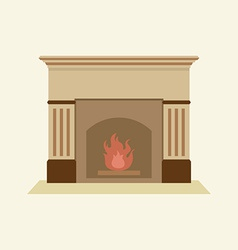 Modern Flat Design Fireplace vector image