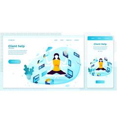 multi task manager girl set vector image