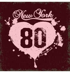 new york city typography vector image