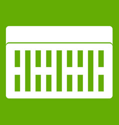 one building brick icon green vector image