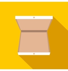 Open pizza box flat icon vector