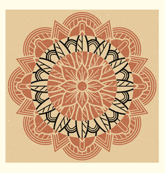 oriental indian asian meditation mandala vintage vector image