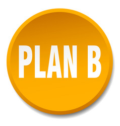 Plan b orange round flat isolated push button vector