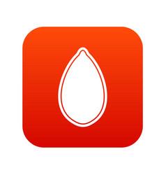pumpkin seed icon digital red vector image vector image