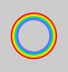 rainbow round rainbows circle isolated vector image