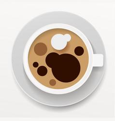 realistic white coffee mug isolated on white vector image