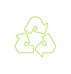 Recycle symbol linear icon vector