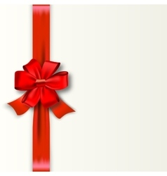 Red Ribbon with Satin Bow Isolated on White vector image
