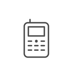 retro mobile phone line icon vector image
