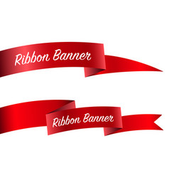 ribbon set banner collection vector image