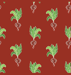 Ripe beetroot seamless pattern vector