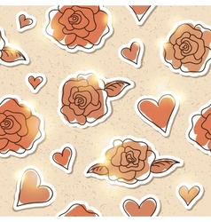 seamless pattern of roses eps 10 vector image
