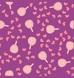 seamless pattern with candy kawaii vector image