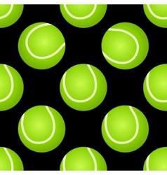 Seamless tennis ball pattern vector image