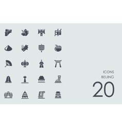 Set of Beijing icons vector image