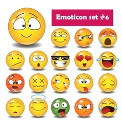 Set of emoticons N6 vector