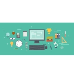 Set of objects vector