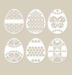Set stencil easter eggs vector