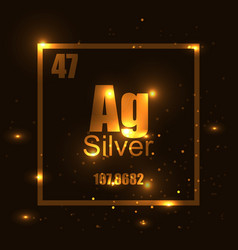 silver element of the periodic table shine vector image