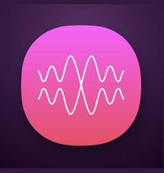 Sound audio wave app icon vibration noise vector