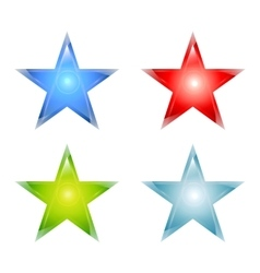 Stars maden from glass vector image
