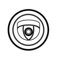 Symbol video camera interior icon vector