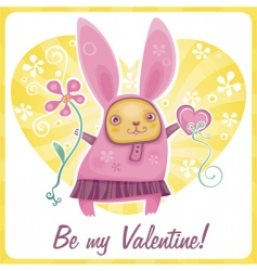 valentine rabbit vector image