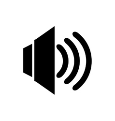 Volume audio isolated flat icon vector image