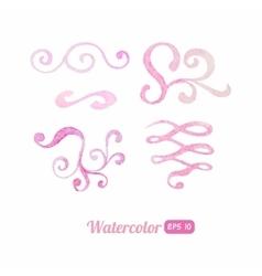 Watercolor swirls set vector