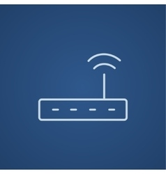 Wireless router line icon vector image