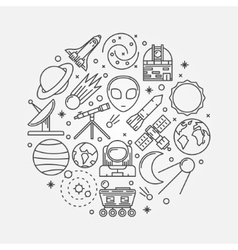 Astronomy linear vector image