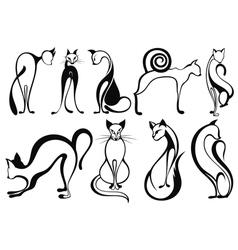 Black cats vector image vector image