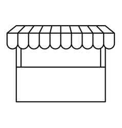 Black silhouette of store icon vector