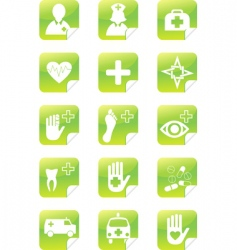 medical set stickers vector image