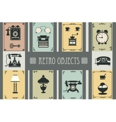 Set of retro household vector image vector image