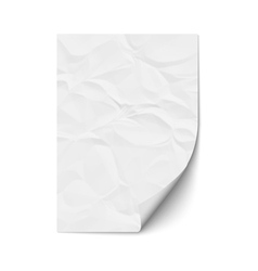 Sheet crumpled paper vector image vector image