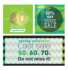 big sale banners ribbon vector image vector image