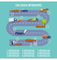 Car crash infographics vector image vector image