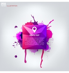 Colored abstract geometric background with splash vector image