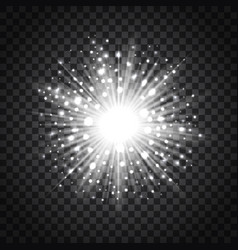 flash star on transparent background vector image