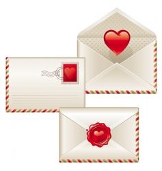 three love letters vector image vector image