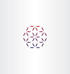 abstract business hexagon logo design vector image