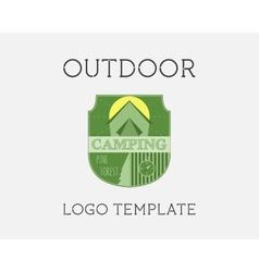 Adventure Outdoor Tourism Travel Logo Template vector image vector image