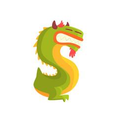 cartoon character monster letter s vector image