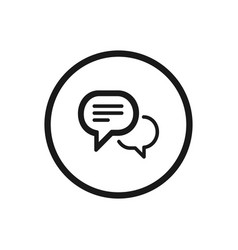 chat icon on a white background vector image vector image