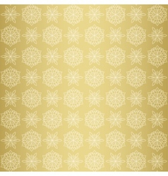 Christmas seamless pattern with snowflake gold vector image