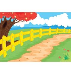 Countryside path vector