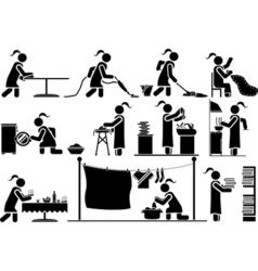 ICONS MAN WORK HOME vector image vector image